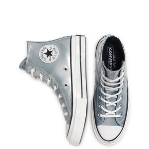 New Converse Industrial Glam Chuck 70 Hi Silver
